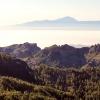 Roque Nublo mit Blick auf den Teide